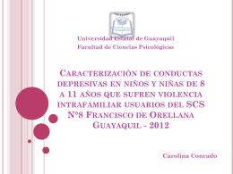 Caracterización de conductas depresivas en niños y niñas de 8 a 11