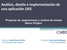 Análisis, disseño e Implementación de una aplicación J2EE