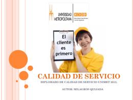 CALIDAD DE SERVICIO - diplomado-gerencia
