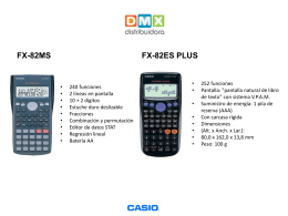 FX-82ES PLUS - Distribuidora
