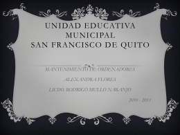 UNIDAD EDUCATIVA MUNICIPAL SAN FRANCISCO DE QUITO