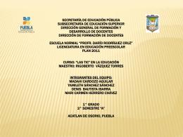 Exposicion - CURSO LAS TIC EN LA EDUCACION