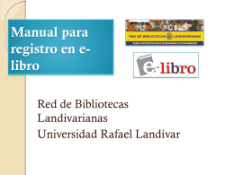 Manual para registro en e-libro