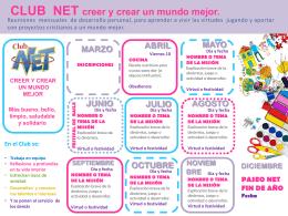 Base para calendario gráfico de actividades CLUB NET