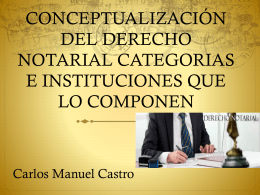 conceptualización del derecho notarial categorias e instituciones