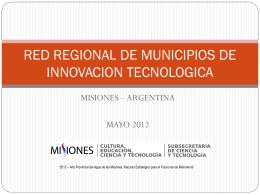 red de municipios de innovacion tecnologica.ppt
