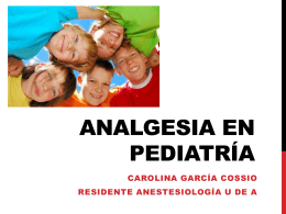 Analgesia en pediatría