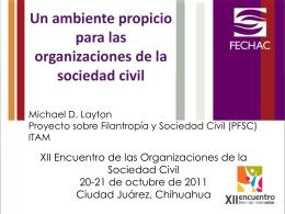 Slide 1 - Proyecto sobre Filantropía y Sociedad Civil