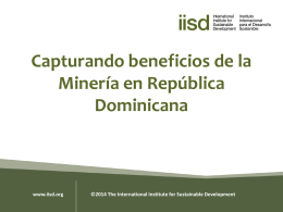 Capturando Beneficios de la Minería en República Dominicana