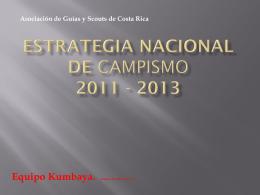 estrategia nacional de campismo 2011 - 2013