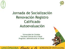 Características esenciales entre el Registro Calificado y la