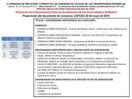 Universidad San Pablo CEU. Dª. Montse Cabello
