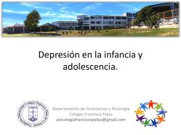 Depresión en la escuela - Colegio Francisco Palau
