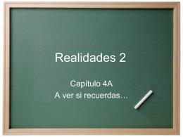 Realidades 2 - SraHacheHomepage