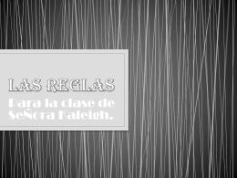 Las Reglas - kaleighmccormack