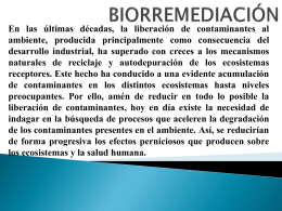 BIORREMEDIACIÓN - microbiologiaunvime