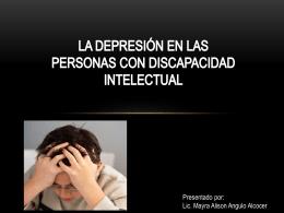 la depresión en las personas con discapacidad intelectual