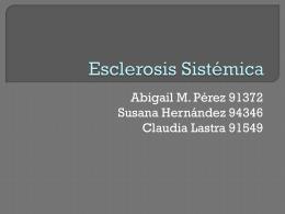 Esclerosis Sistémica