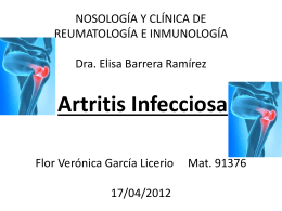 Artritis Infecciosa