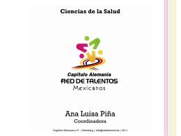 Ciencias de la Salud - Red de Talentos Mexicanos