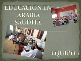 EDUCACION EN ARABIA SAUDITA - 1q