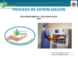 Proceso De Esterilizacion 2015