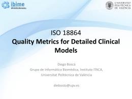 ISO 18864: Métricas de calidad para los Modelos Clínicos Detallados