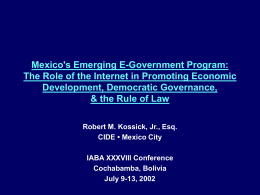 II. The E-Mexico Program