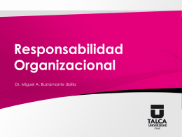 Responsabilidad Organizacional