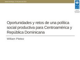 Oportunidades y retos de una política social productiva para
