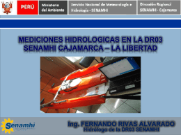 2. Mediciones hidrologicas en la dr03 senamhi