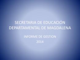 PPTX - Secretaría de Educación del Magdalena