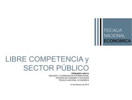 Libre Competencia y Sector Público
