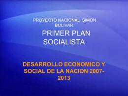 PRIMER PLAN SOCIALISTA DE