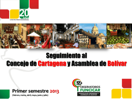 Asamblea Departamental de Bolívar Informe primer
