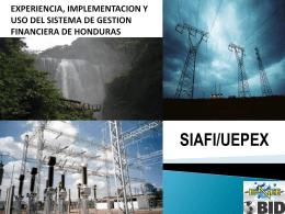 Estructura SIAFI/ ENEE