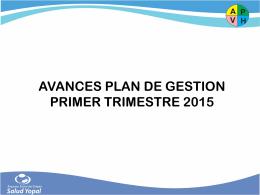 Descargar el informe Informe Plan de Gestión Primer Trimestre