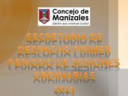 presentacion informe de gestion del primer