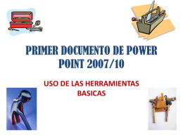PRIMER DOCUMENTO DE POWER POINT 2007/10