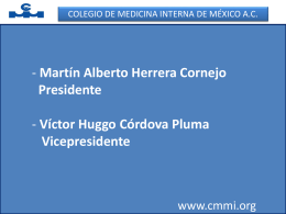 Diapositiva 1 - Dr. Víctor Huggo Córdova Pluma