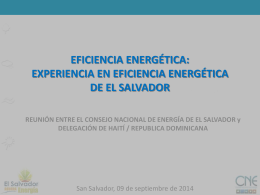 EFICIENCIA ENERGÉTICA: CONTEXTO E IMPORTANCIA PARA LA