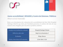 Anexo accesibilidad | SENADIS y Centro de Sistemas Públicos