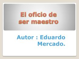 EL oficio de ser maestro (305041)