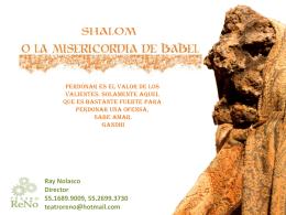 Shalom (dossier) Carpeta - Compañia de Teatro ReNo