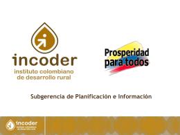 Componente productivo ADR Montes de María