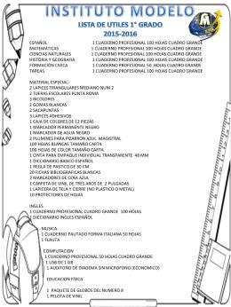PRIMER GRADO - Universidad Modelo