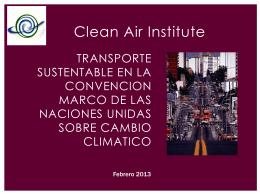 Transporte Sustentable en la Convención Marco
