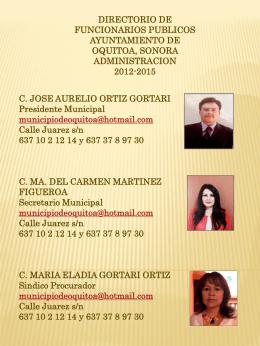 Diapositiva 1 - Municipio de Oquitoa, Sonora