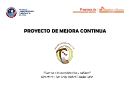 Directora : Sor Ledy Isabel Galván Calle