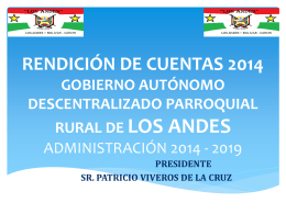 rendicion de cuentas 2014 - Bienvenidos a la Parroquia de Los Andes